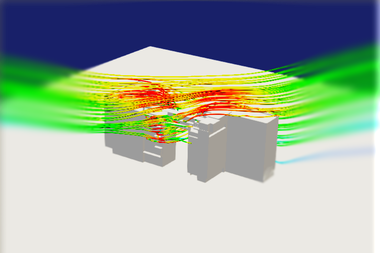 Computational Fluid Dynamics CFD for exterior building air flow